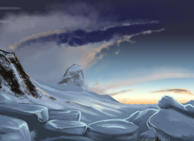 arctic scape practice by Forheksed