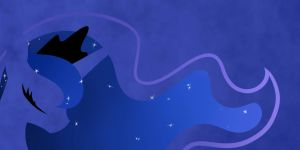 Minimalist Princess Luna by Because-Im-Pink