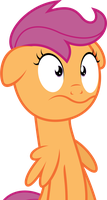 Scared Scootaloo by VladimirMacHolzraum