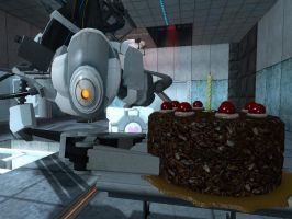 Glados with the cake by renegade908