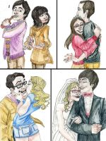 TBBT couples by DitaDiPolvere