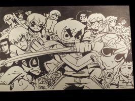 Scott Pilgrim. Fight Ready by Jailboticus