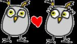 TWO OWLS IN LOVE by altergromit