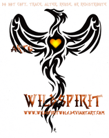 Phoenix And Heart Tattoo by WildSpiritWolf