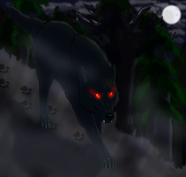 Shadow Wolf Commission by windwolf55x5