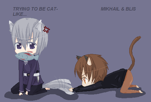 .:Trying to be Cat-Like:. by Holo-Ookami