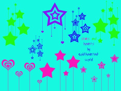 stars and hearts brushes by cold-hearted-world