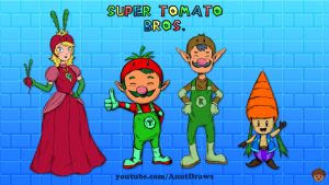 Super Tomato Bros. by AnutDraws