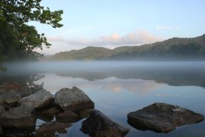 In the land of Mists - Tellico Lake - August 2014 by CrystalMarineGallery