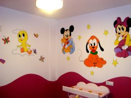 Disney and Tweety mural 2 by Raw-J