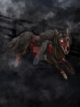 The Barghest (black dog) by thefaeriedragon