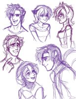 Pepe and Penelope Sketches by CrescentVenus