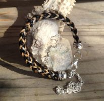 Cruelty Free Braided Horsehair Bracelet - Tricolor by TarpanBeadworks