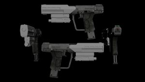 Halo 3 ODST Pistol by advancedspartan