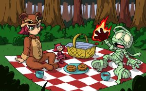 Annie and Amumu's Picnic - Commission by LateCustomer