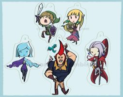 Skyward Sword Keychains by RomaniZ