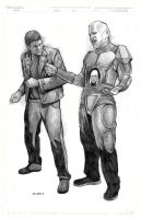 red dwarf's Kryten and Lister by charles-hall