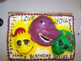 barney cake by perpetuousdreemr