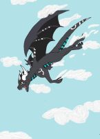 Flying Through Air by Chibi-Dragoness