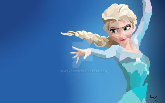 Elsa, Snow queen of Erendelle by furbyeater