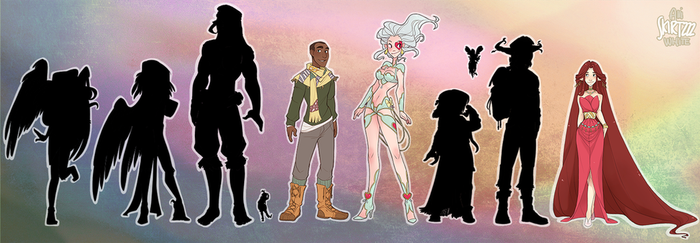 Event Sky Character Lineup by Skirtzzz