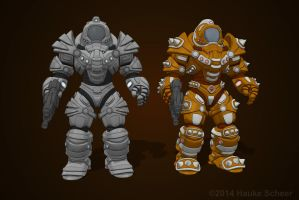 Defender Armor and Scavenger Armor by hauke3000