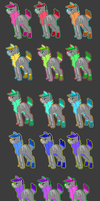 RAINBOW SOCK PACK by Late-Night-Cannibals