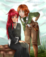 AT 3 Hinao and Aithne by MyangHime