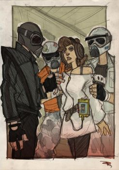 STAR WARS 80s High School - Vader, Leia and Troops by DenisM79