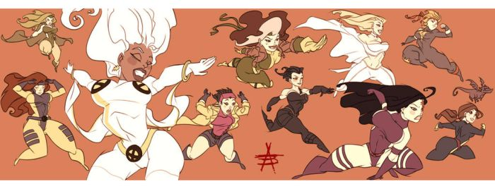 THICK N JUICY Women of XMEN by CaptainLuckypants