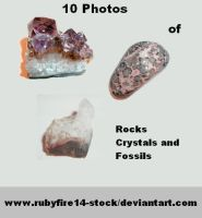 Rocks, Crystals, and Fossils by Rubyfire14-Stock