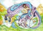 Luffy and Dragon by Barguest