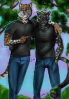 Commission - Grunge and Arkarian by FuriarossaAndMimma