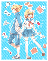 Kagamine Twins by Haru-Tchi