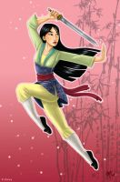 Mulan Art Trade by MelZayas