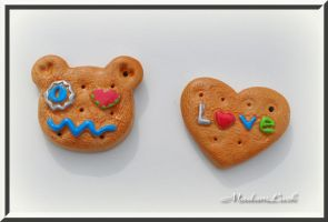 fun cookie charms by MadamLuck