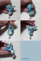Glaceon Dangly Bead Charm by ChibiSilverWings