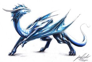 Blue Wyvern by Lowrider-Girl