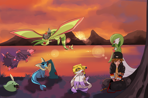 COMMISSION: Pokemon Team 3 by SeviYummy