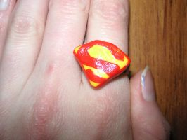 Superman Ring by PriestessOfNox