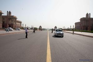 a Morning at India Gate by frankzzsword