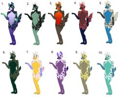 Hyena Adoptables Wave 1 of 3 by Candyfoxy
