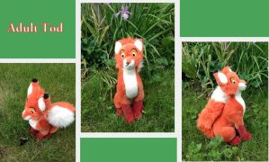 Adult Tod plush by Laurel-Lion