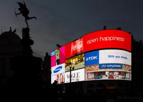 Piccadilly Circus in the Dark by Cloudwhisperer67