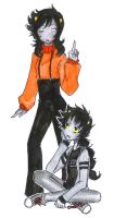 Genderbend: Kankri and Karkat by Tamakichi