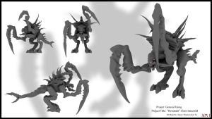 'Revenant' Class Insectoid by smokejaguar