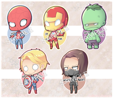Cheeb!Marvel Charms ! by Aruella