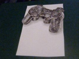 PS3 controller 3D by 1992chameleon