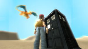 Trainer Red Discovers the TARDIS by JaccoHeerdt