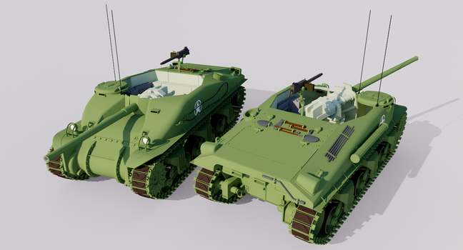 Alternate History T40 Sherman Tank Destroyer by TheoComm